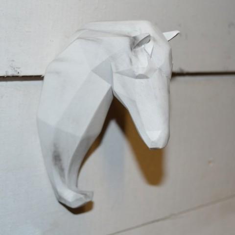 Wandhaken Animuro piccolo Pferd weiss SaboDesign