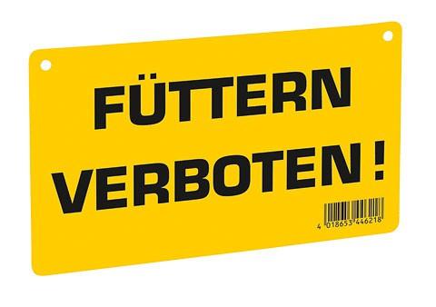 Warnschild-Füttern verboten! gelb KERBL