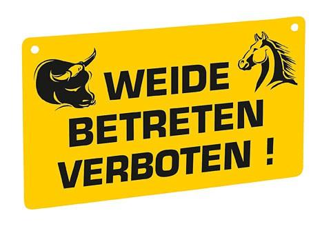 Warnschild-Weide betreten verboten gelb KERBL