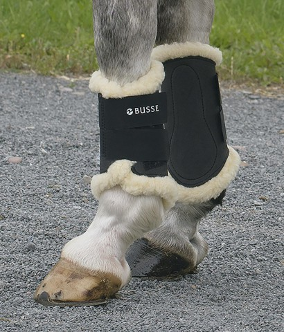 Dressurgamasche Art-Fur schwarz BUSSE