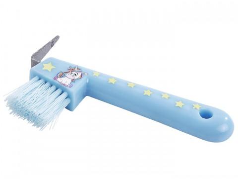 Hufkratzer Einhorn hellblau Busse