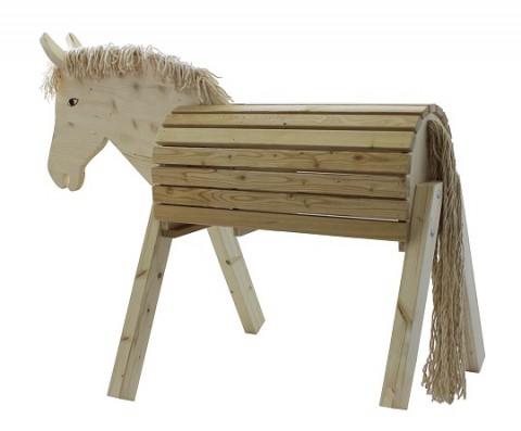 Holzpferd Susi natur 75cm Busse
