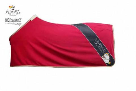 Abschwitzdecke Alpha Fleece Stripe viola red Pummeleinhorn by Equest