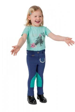 Kinderreithose Little Rider Mini blau/mint USG