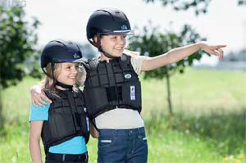 Kinder Sicherheitsweste Flexi schwarz USG