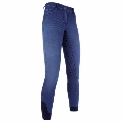 Kinder Reithose Summer Denim jeansblau HKM
