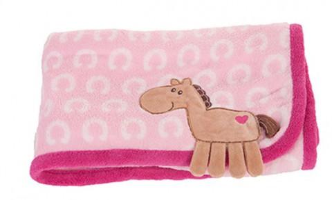 Kuscheldecke Pony rosa HKM