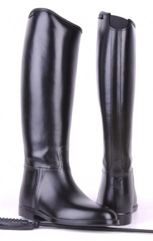 Gummi-Reitstiefel Damen 36 bis 42 lang & weit schwarz HKM