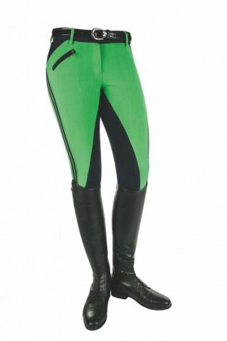 Damenreithose Global Team Sporty grün/blau HKM