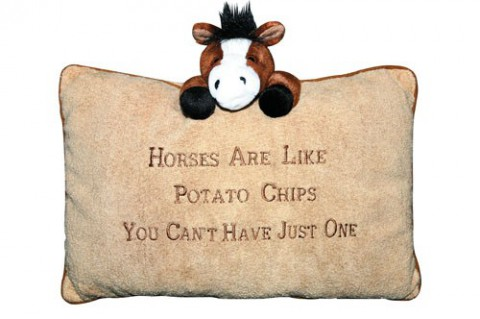 Plüschkissen Horses are like Potatochips HKM