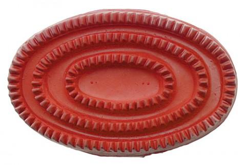 Gummistriegel rot HKM
