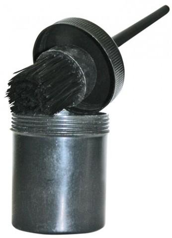 Hufpinsel mit Schutztopf schwarz HKM