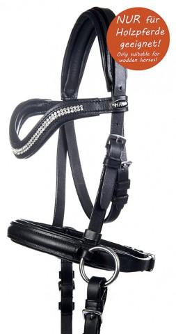 Gebisslose Trense Funny Horses für Holzpferde schwarz/pink HKM