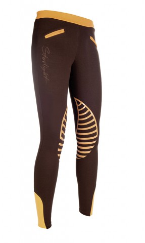 Kinderreitleggings Starlight braun/orange HKM