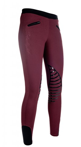 Kinderreitleggings Starlight rot/schwarz HKM