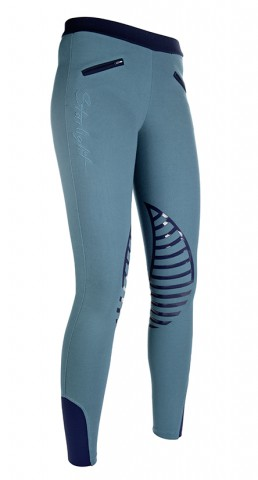 Kinderreitleggings Starlight petrol/navy HKM