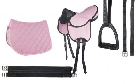 Shettysattel-Set Beginner pink HKM