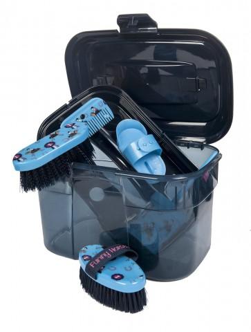 Putzbox Funny Horses blau HKM