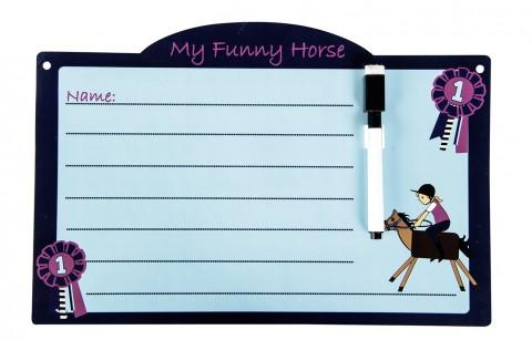 Stalltafel Funny Horses babyblau/dunkelblau HKM