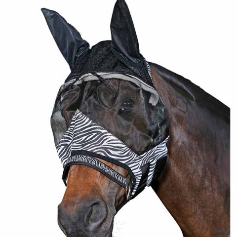 Horse Guard Fliegenmaske Zebra scan-horse