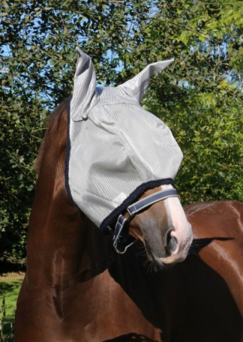 Amigo Mio Fliegenmaske mit Ohren silber/blau HORSEWARE