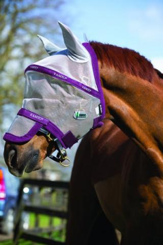 Rambo Fliegenmaske Plus Vamoose silber/purple HORSEWARE