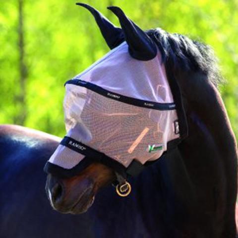Rambo Fliegenmaske Plus Vamoose oatmeal/schwarz HORSEWARE