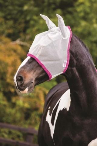 Amigo Fliegenmaske mit Ohren silber/purple HORSEWARE