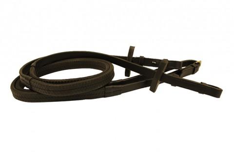 Rambo Micklem Gummizügel schwarz HORSEWARE