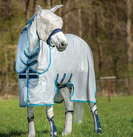 Amigo Bug Buster Vamoose silver/elec blue/navy Horseware