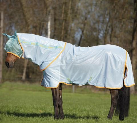 Amigo Bug Rug Fliegendecke azur blue/aqua/orange Horseware