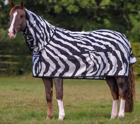 Fliegendecke Buzz-Off Zebra Full Neck bucas
