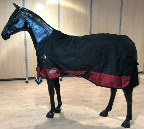 Regendecke BasicLine Lech plus mit Fleece schwarz/rot Daselfo